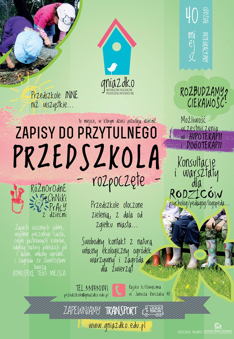 Gniazdko - Rekrutacja do przedszkola w Rajsku